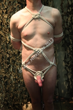 Box tie, naked front