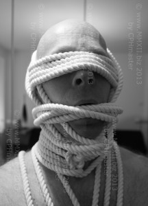 Rope gag and blindfold