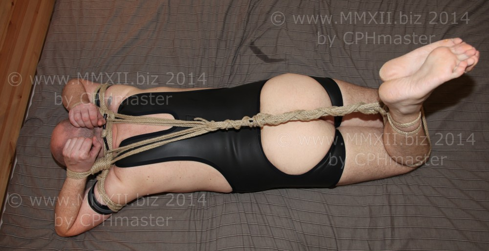 Hog-tied on bed 2